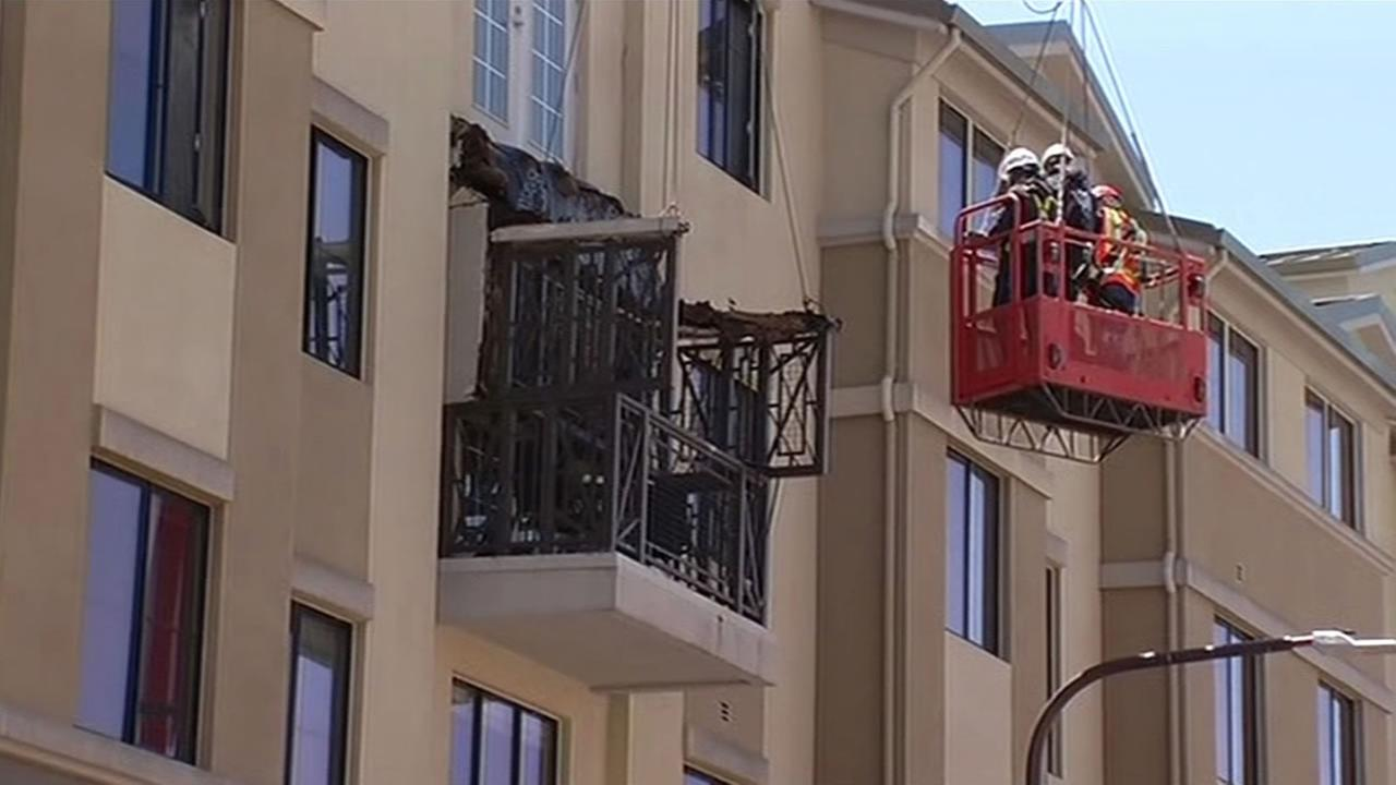 Berkeley building inspectors are on the scene of Monday nights balcony collapse.