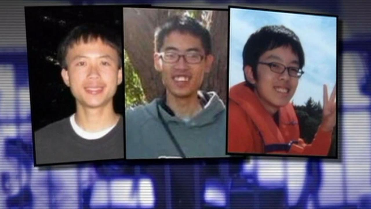 Isla Vista stabbing victims from left to right: 19-year-old George Chen of San Jose, 20-year-old James Cheng-Yuan Hong of San Jose, and 20-year-old David Wang of Fremont.