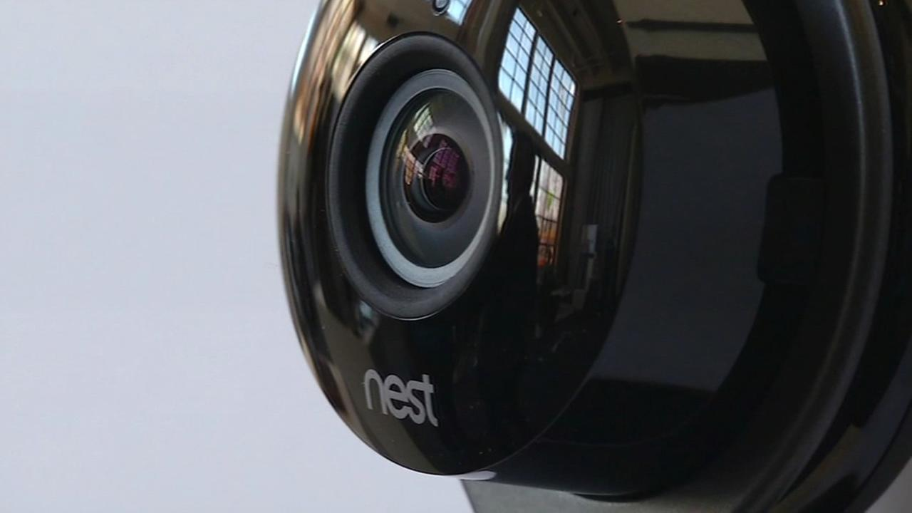 A Nest Cam is seen in San Francisco on Wednesday, June 17, 2015.