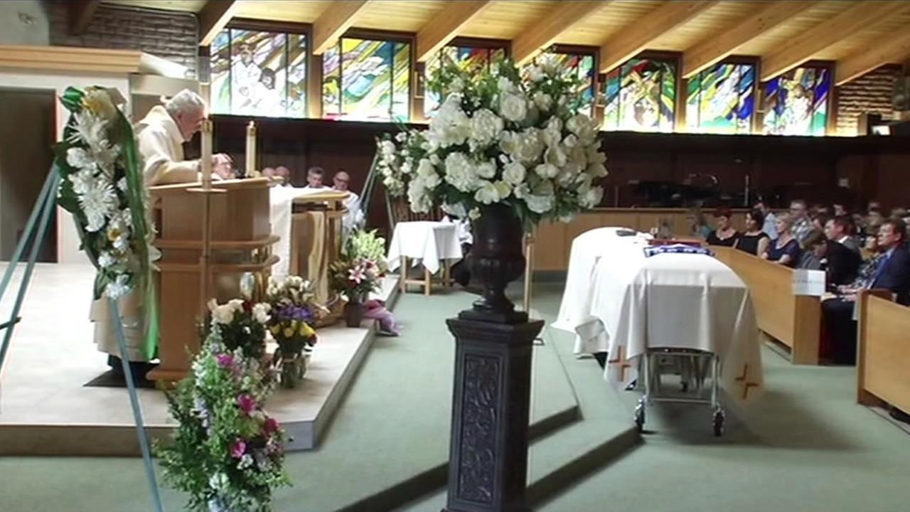 Two cousins who were killed when a balcony collapsed at an apartment building in Berkeley were remembered as fun-loving women during their funeral on June 20, 2015.