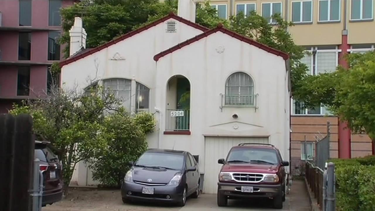 A house that sits on the property of UCSF Benioff Childrens Hospital Oakland in Oakland, Calif. is being offered for free.