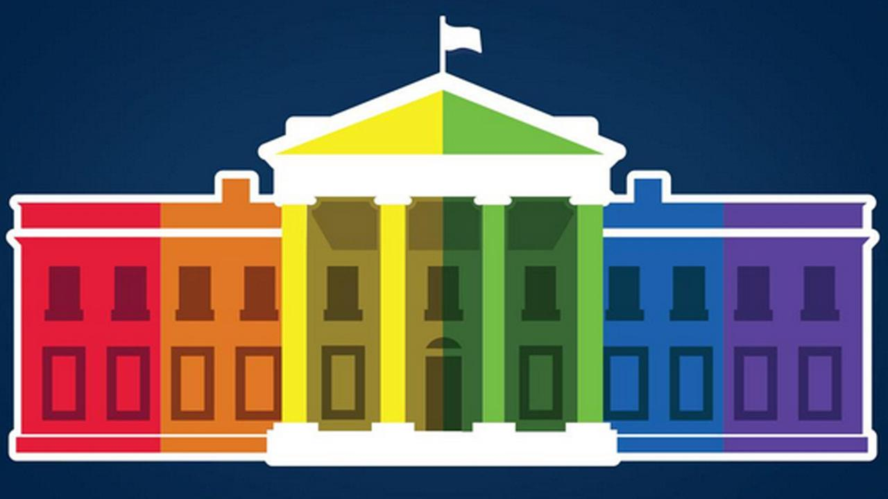 White House Rainbow Colors graphic