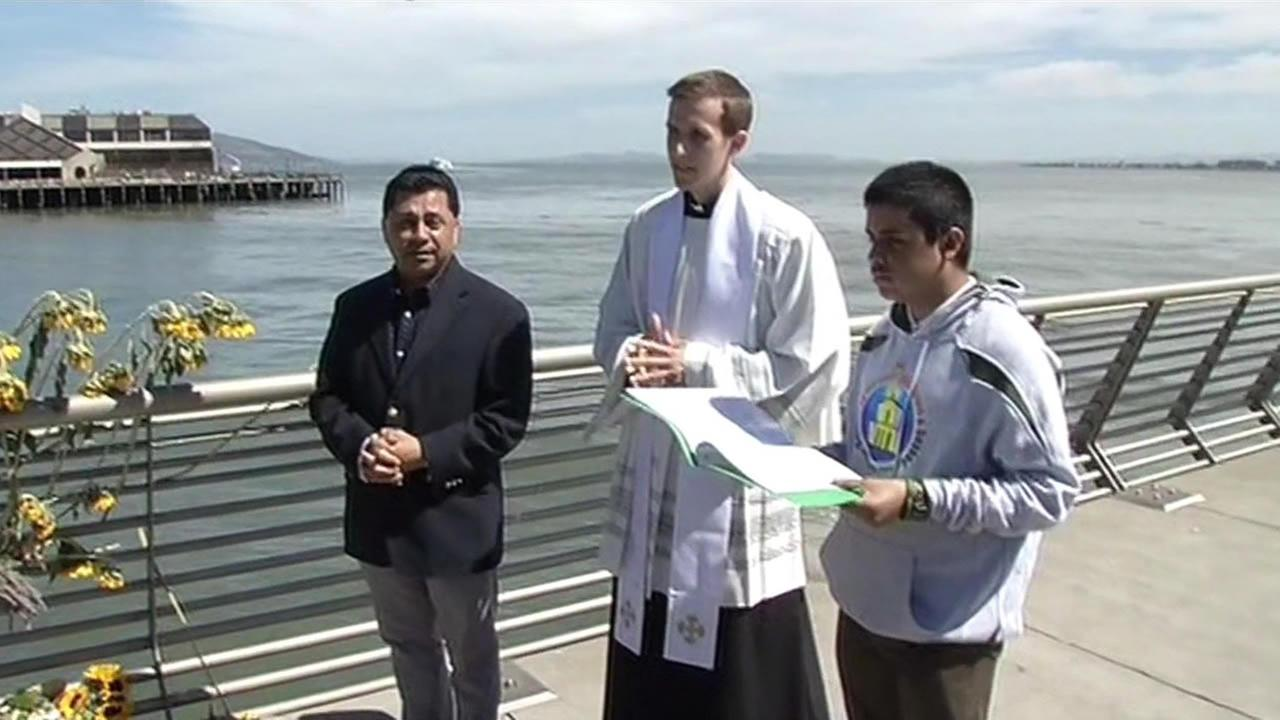 A prayer service was held at San Franciscos Pier 14 on July 6, 2015 in memory of shooting victim Kate Steinle.
