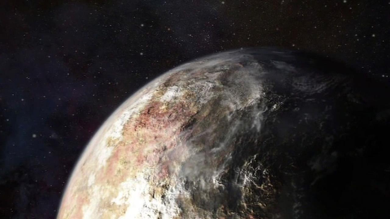artists rendering of what the dwarf planet Pluto