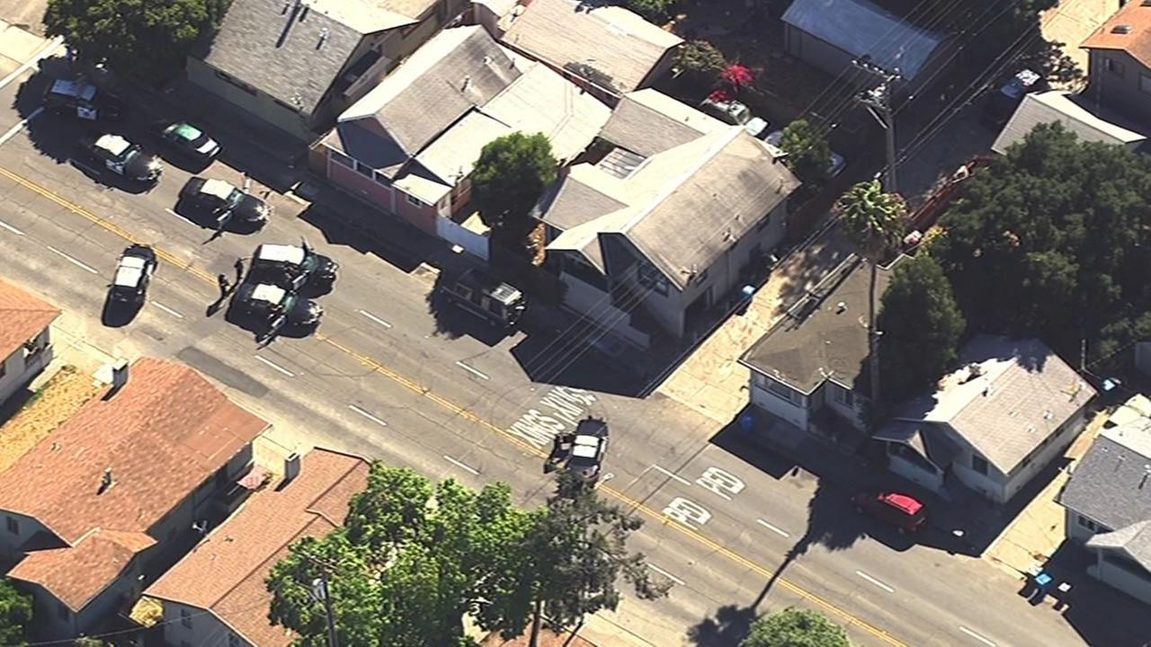 Vallejo police investigate a fatal shooting at Alameda and Capitol streets, July 7, 2015.