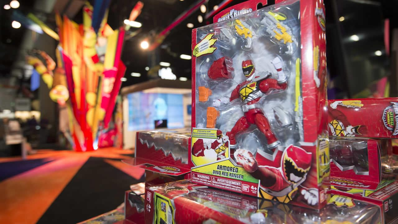 A Power Rangers figure sits on display at the Nickelodeon booth before Preview Night at Comic-Con International held in San Diego on Wednesday July 8, 2015 in San Diego. (AP Photo)