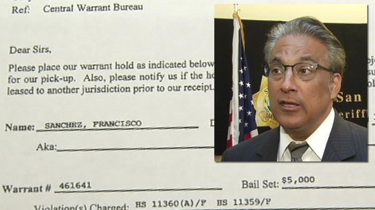 A document obtained by ABC7 News July 8, 2015 indicates San Francisco Sheriff Ross Mirkarimi asked for suspected Pier 14 shooter to be transported from Southern California.