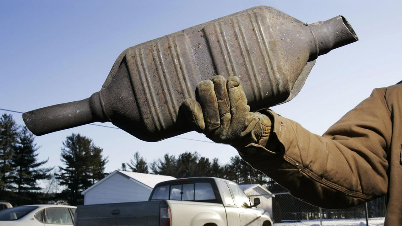 A catalytic converter is seen at Industrial Metal Recycling, Friday, Jan. 26, 2007, in Oakland, Maine.