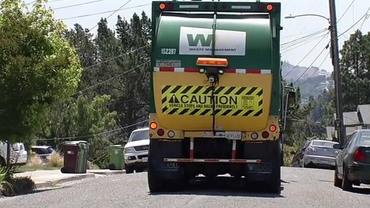 Waste Management garbage truck in Oakland