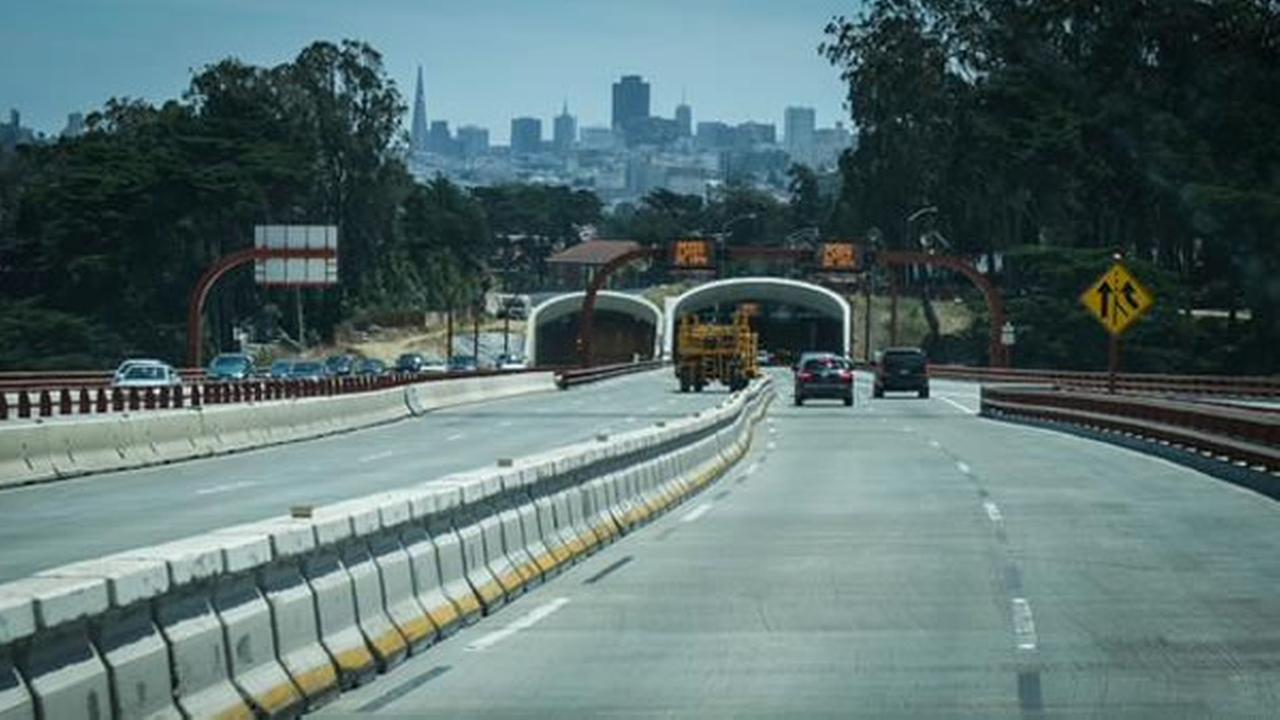 San Franciscos new and improved Doyle Drive opened on Sunday, July 13, 2015, eight hours ahead of schedule.
