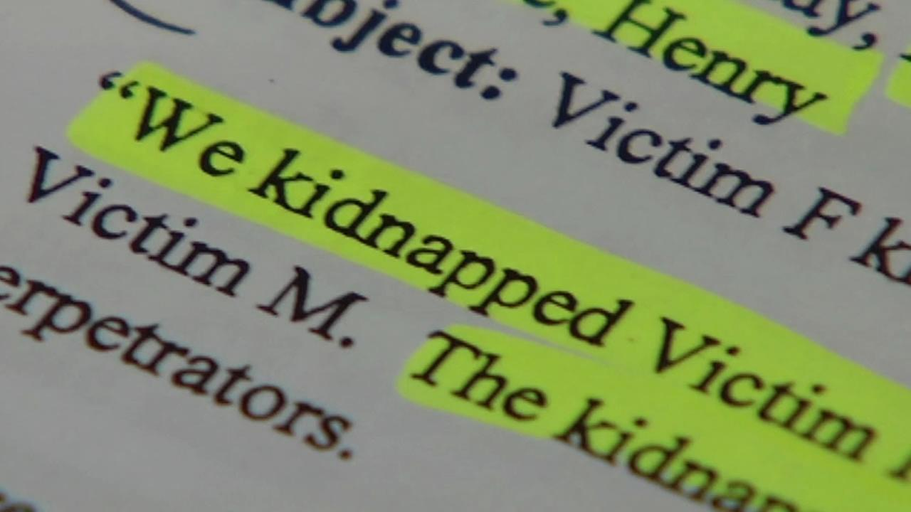 This image shows a highlighted portion of an email allegedly sent by a Vallejo, Calif. kidnapping suspect to Chronicle reporter Henry Lee.