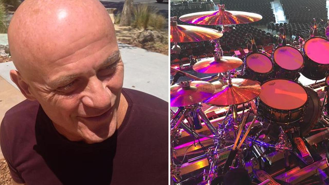 Chicago drummer Tris Imboden before his show at the Concord Pavilion July 15, 2015.