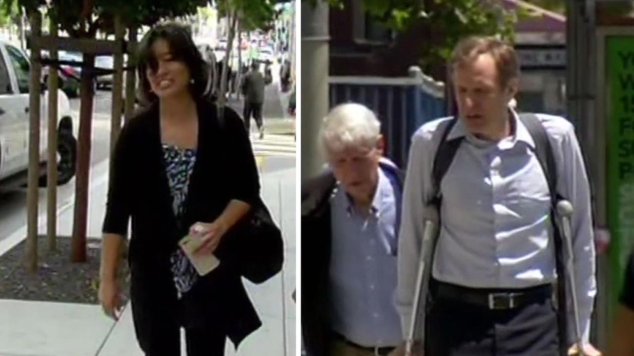 Former married couple Stephen Findley and Mimi Lee walked to San Franciscos Superior Court July 16, 2015 to attend their ongoing trial over their frozen embryos.