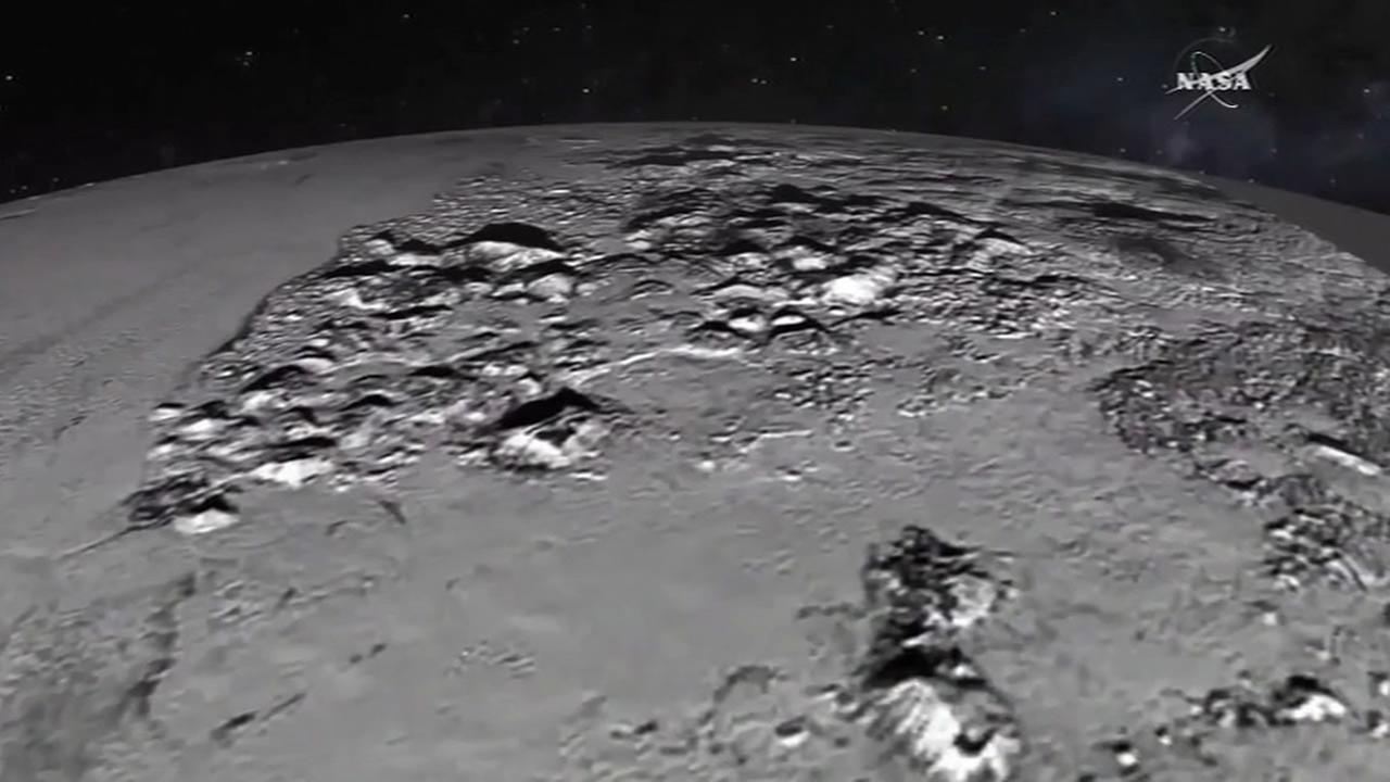 NASAs New Horizons snapped this image of the surface of Pluto.