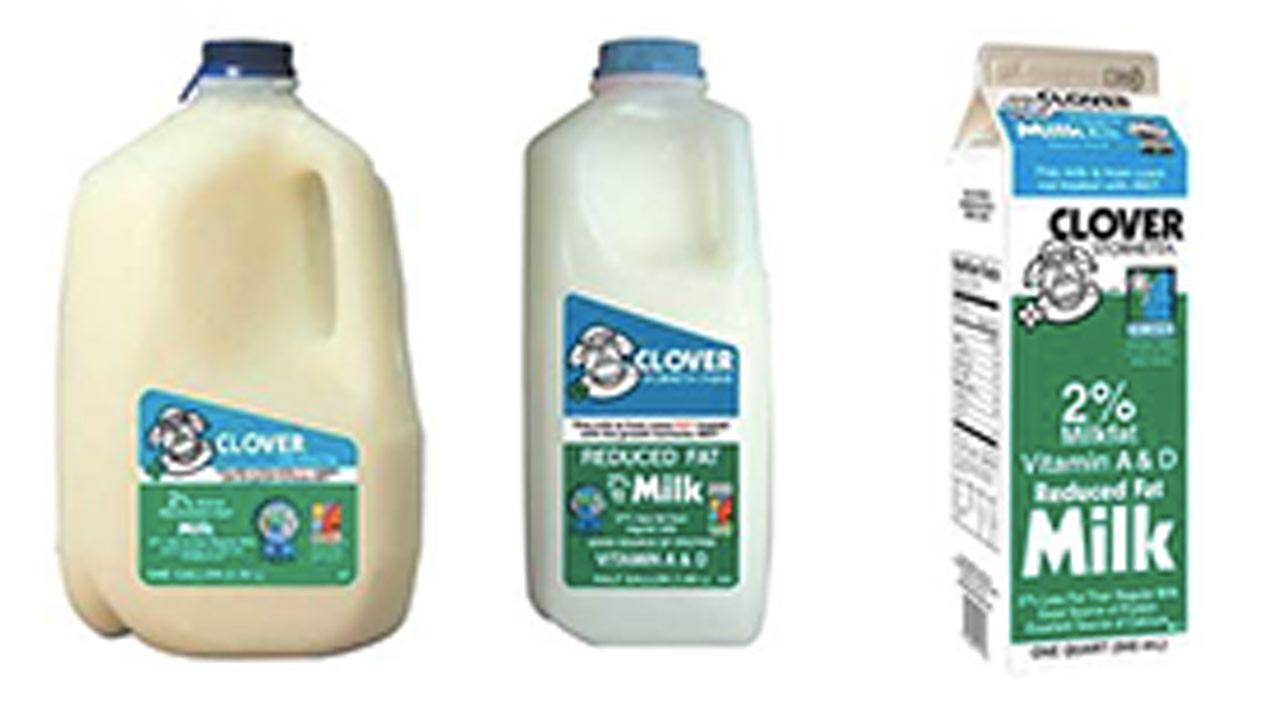 Clover Stornetta Farms issued a voluntary recall on Friday, July 17, 2015 for its 2 percent milk.
