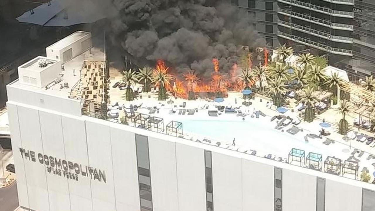 Cosmopolitan Hotel reopens pool where fire started in Las Vegas ...