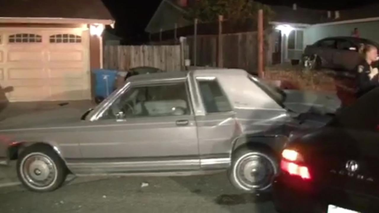 Police are investigating the death of driver who crashed into several parked vehicles in Vallejo, Calif. on Sunday, July 26, 2015.
