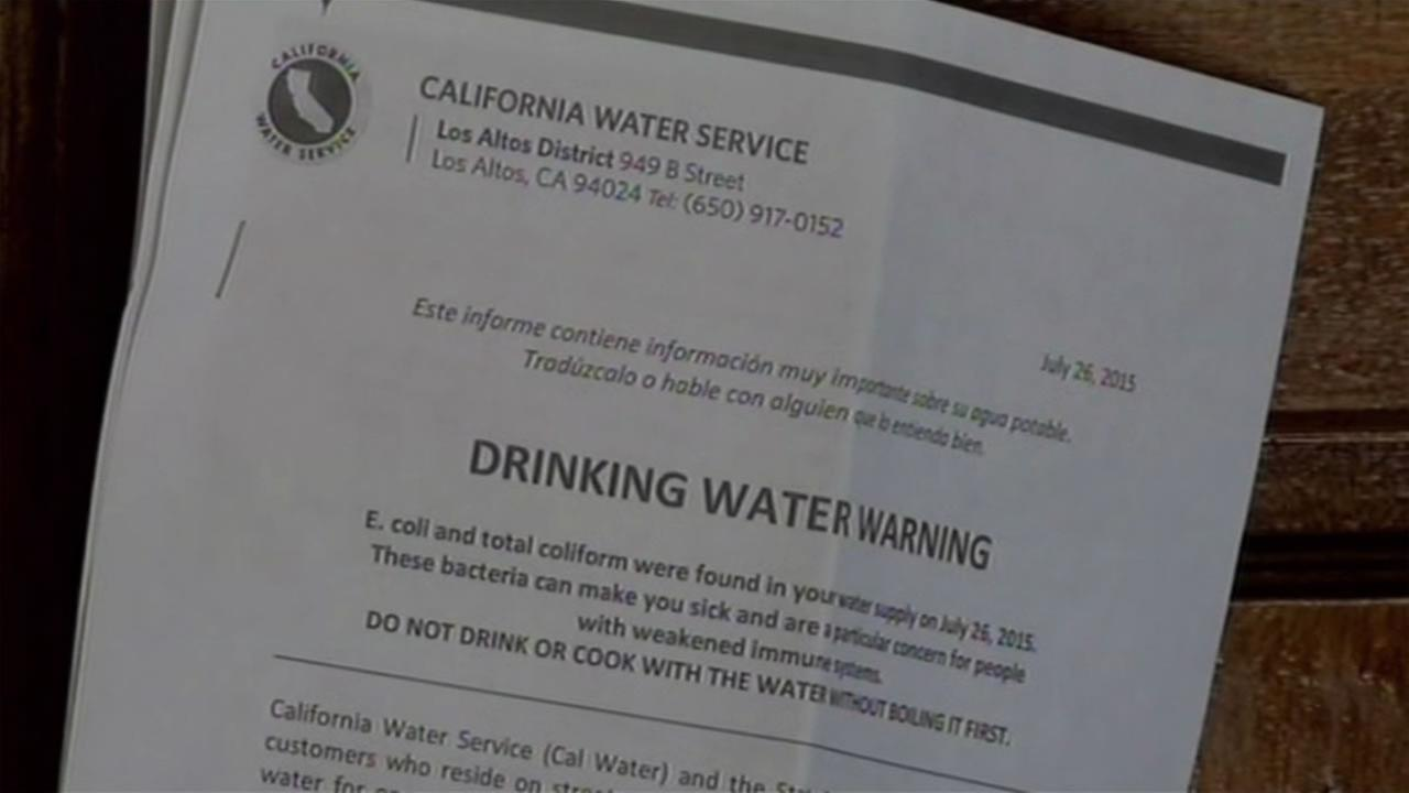 Some Los Altos residents have received warnings about possible E. Coli contamination in the water supply and have been told to boil their water, July 27, 2015.