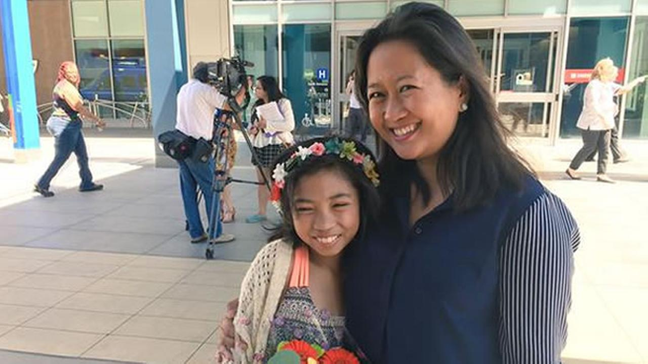 ABC7 News was outside Oaklands Kaiser Hospital as Kristine Sydney embraced 12-year-old Mailyna Mayate on Tuesday, July 28, 2015.