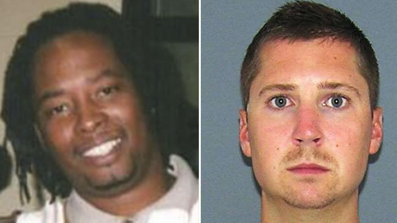 Former Cincinnati police officer Ray Tensing (right) has been arraigned on murder charges after shooting Samuel DuBose (left) during a traffic stop on July 19, 2015.