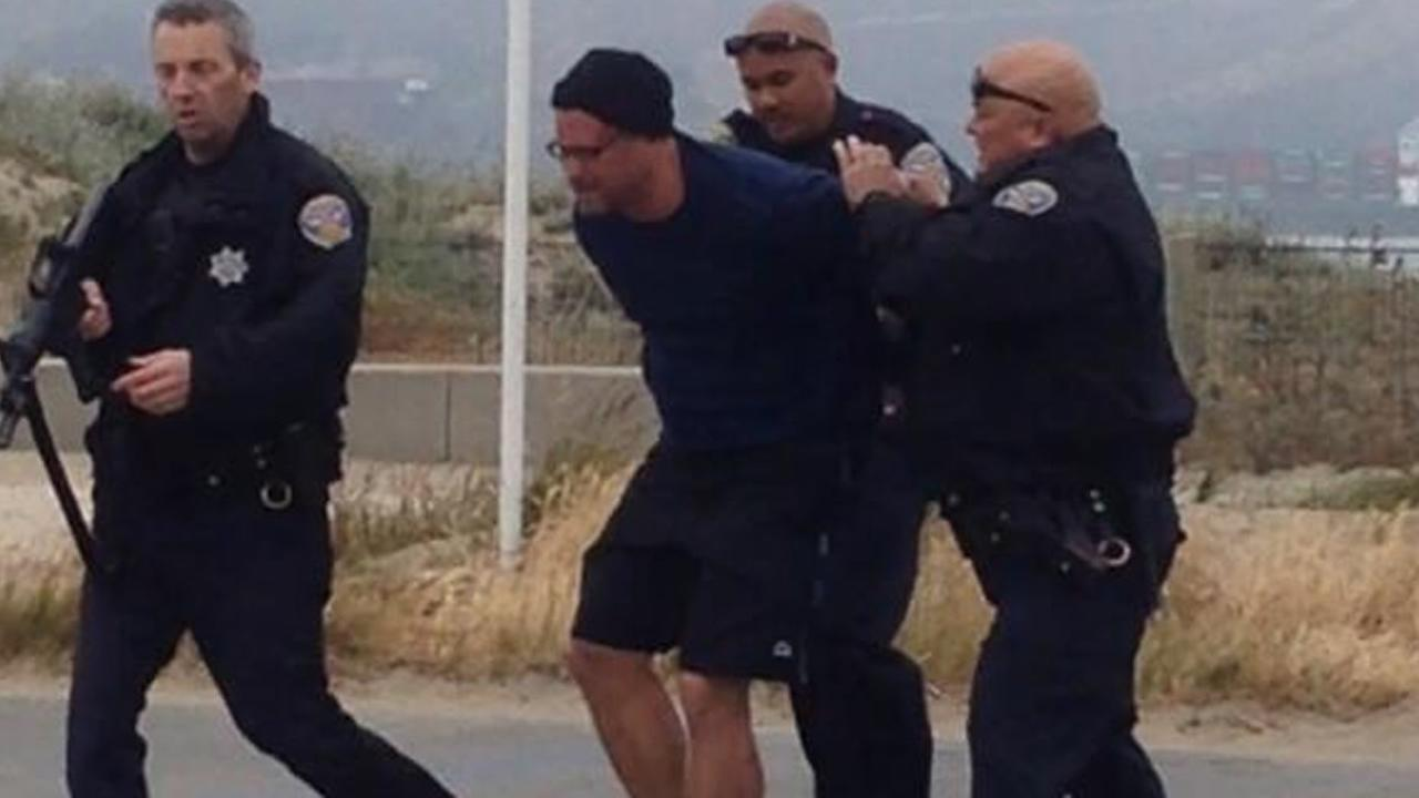 San Francisco police arrested Ryan Kelly Chamberlain at Crissy Field.