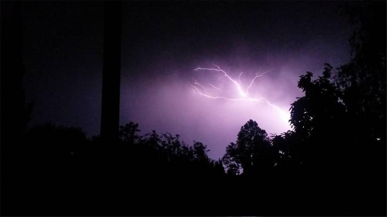 Hundreds of lightning strikes lit up the sky all across the Bay Area on Thursday, August 6, 2015.