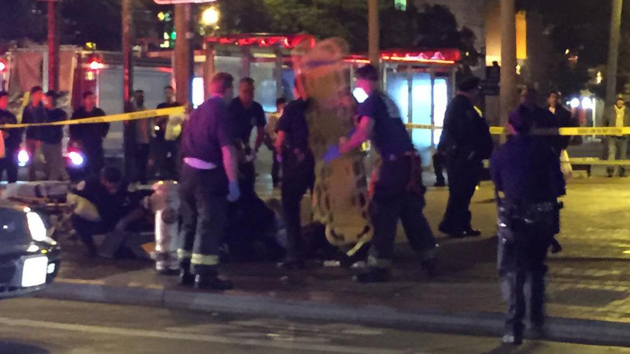 Shooting scene in San Francisco, Monday, August 10, 2015.