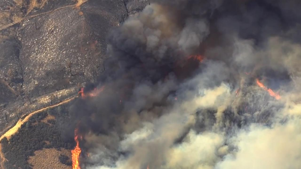The Jerusalem Fire continues to burn in Lake County, Calif. on Tuesday, August 11, 2015.