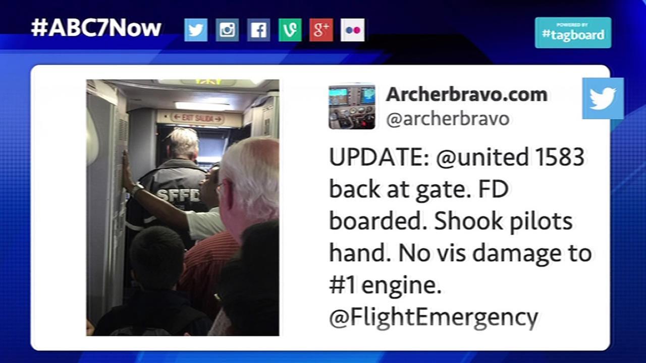 tweet about United flight
