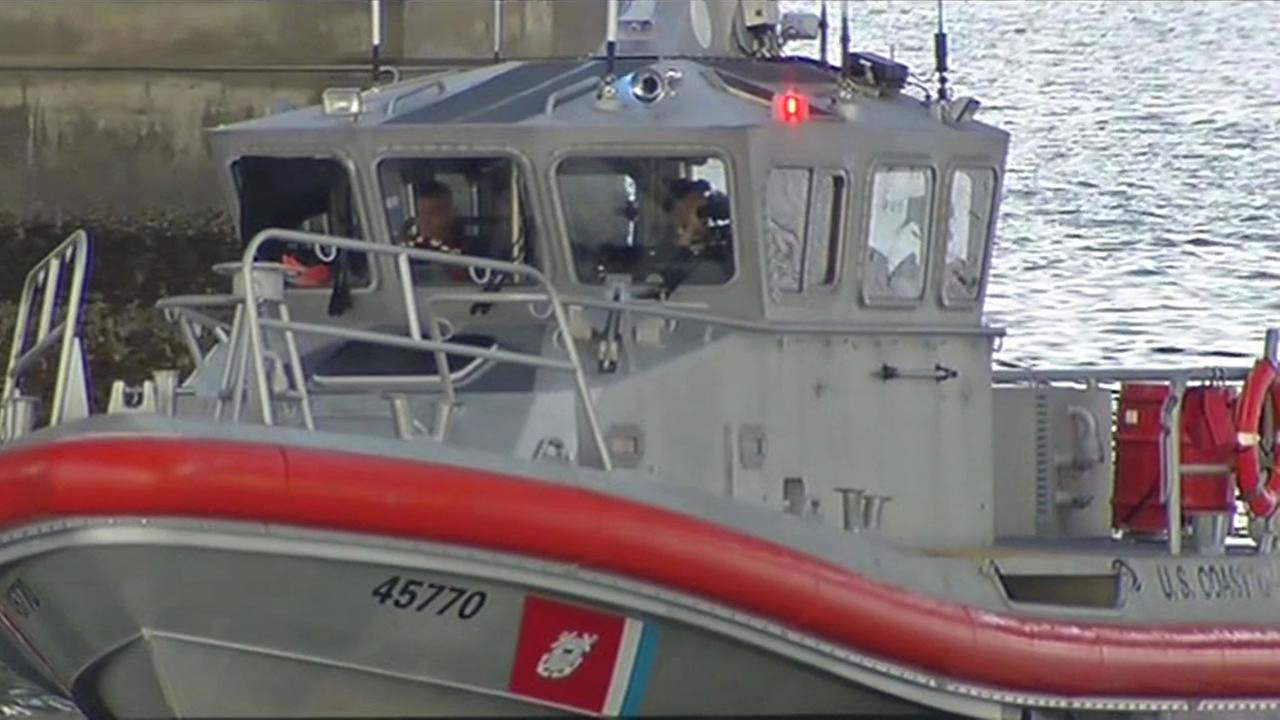 Coast Guard searches for woman in San Francisco Bay.