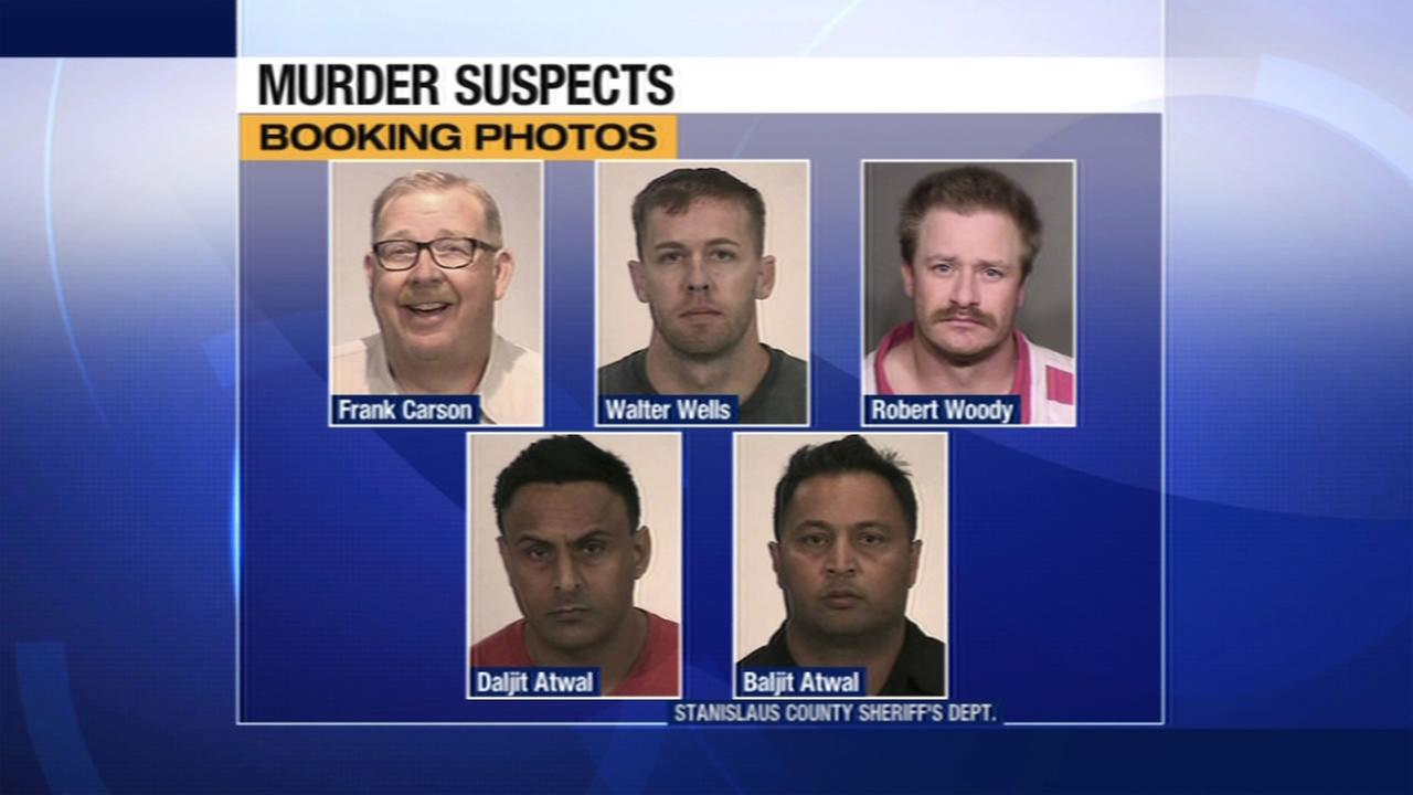 Investigators released booking photos for five suspects who were arrested on Friday, August 14, 2015 in connection with the disappearance of a Turlock man.