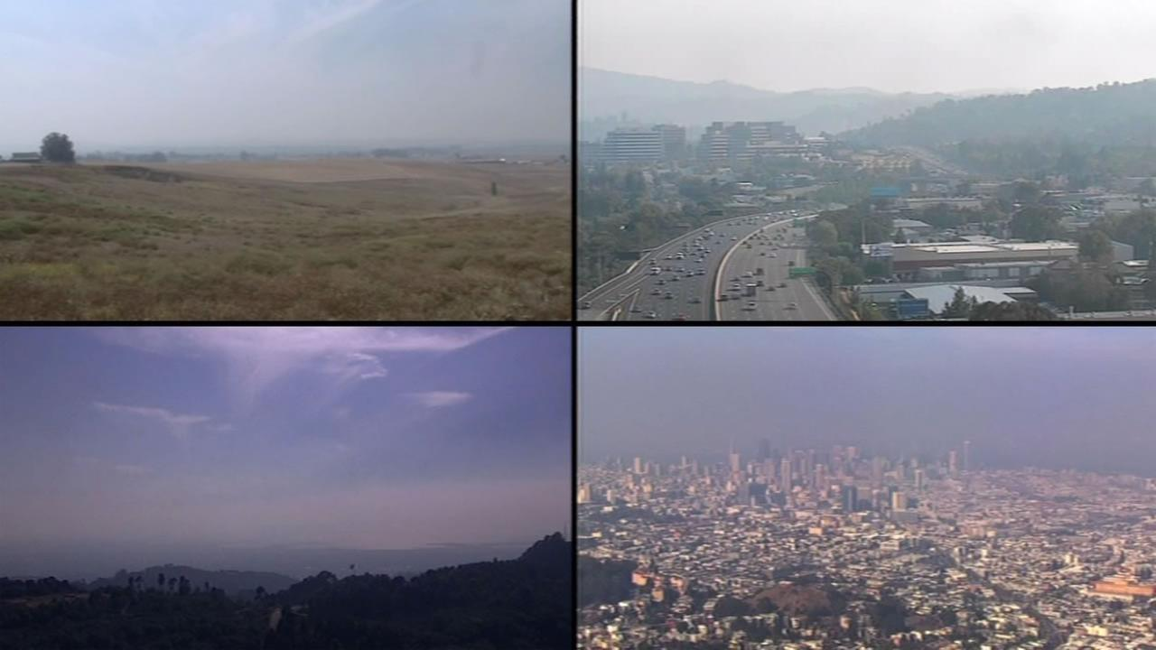 Smoky air spread across the Bay Area on Saturday, August 15, 2015.