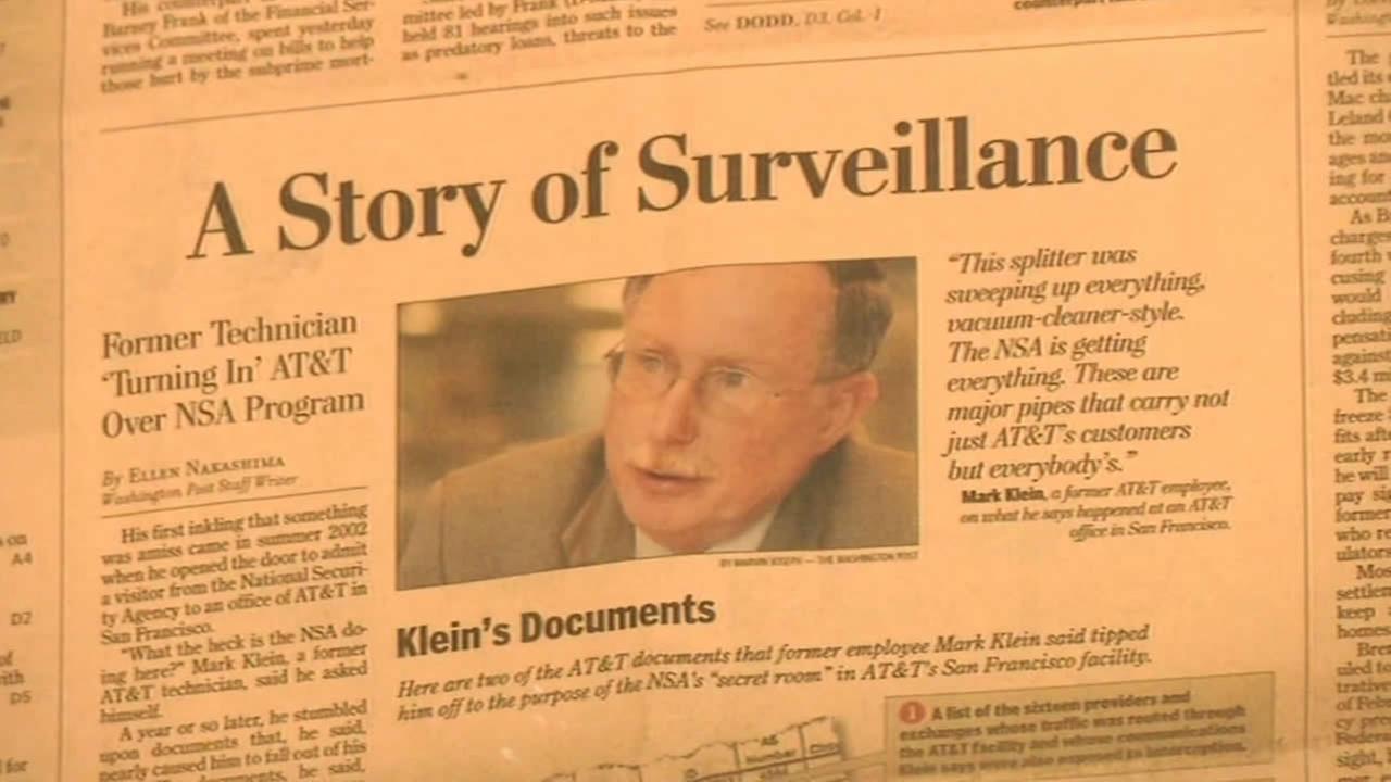 newspaper clipping on Mark Klein