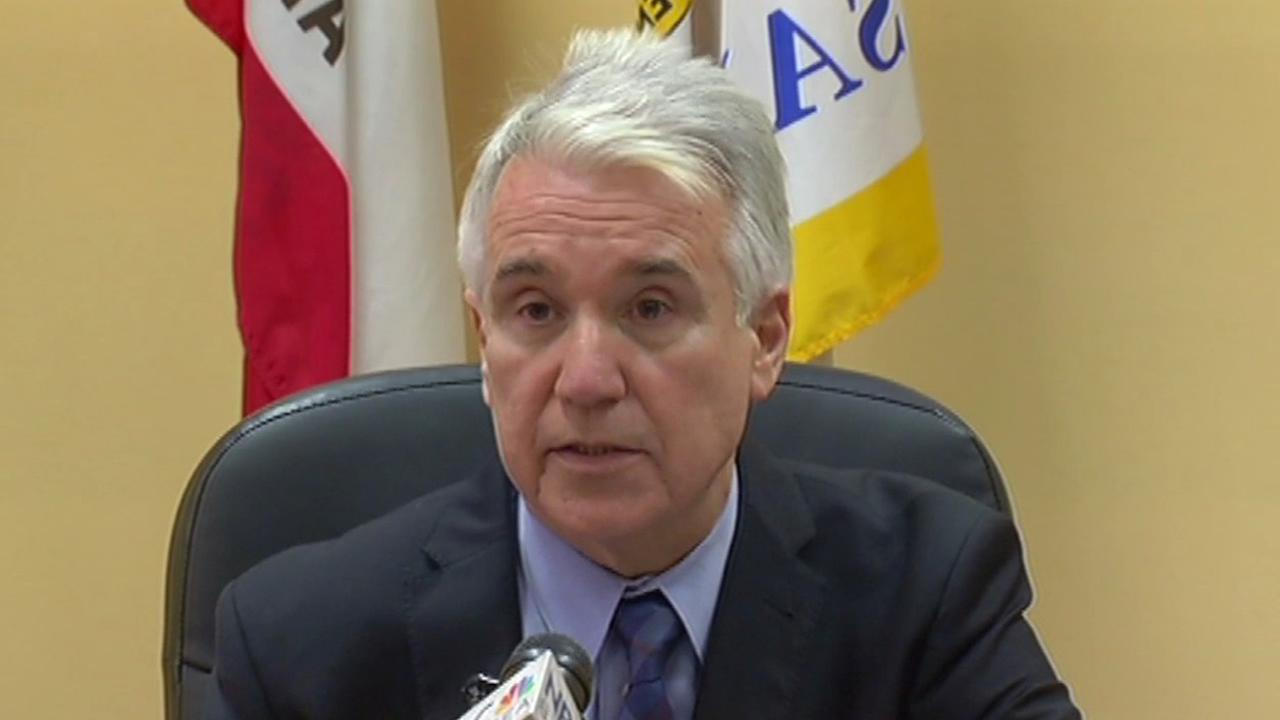 San Francisco District Attorney George Gascon speaks at a news conference on Wednesday, August 19, 2015.