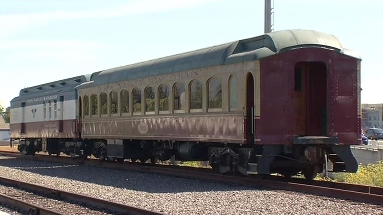 This image taken on August 23, 2015 shows the Napa Valley Wine Train in Napa, Calif.