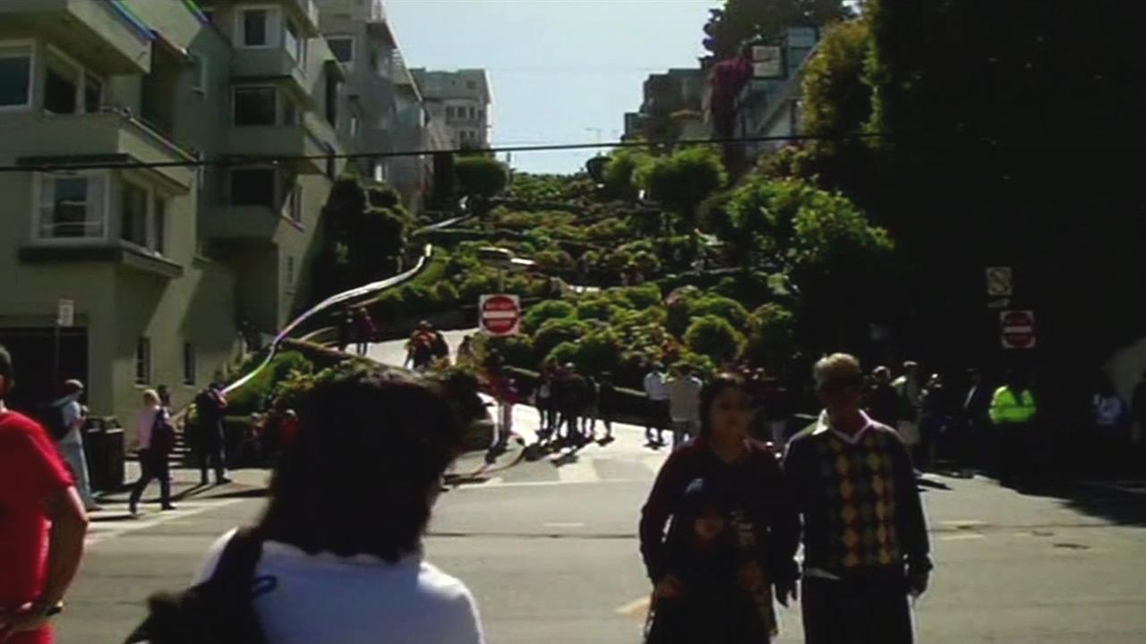 This undated image shows Lombard Street in San Francisco. On August 31, 2015, a supervisor announced a new program to make the iconic street safer.