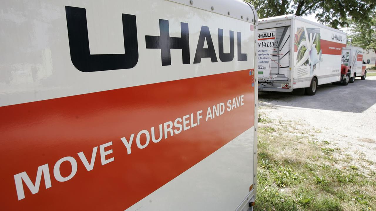 The U-Haul logo is shown on the side of a trailer on a dealer lot, Wednesday, June 14, 2006, in Des Moines, Iowa.