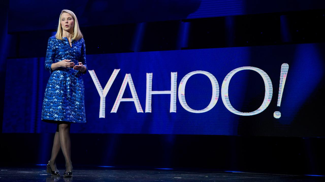 FILE - In this Jan. 7, 2014 file photo, Yahoo President and CEO Marissa Mayer speaks during the International Consumer Electronics Show in Las Vegas.