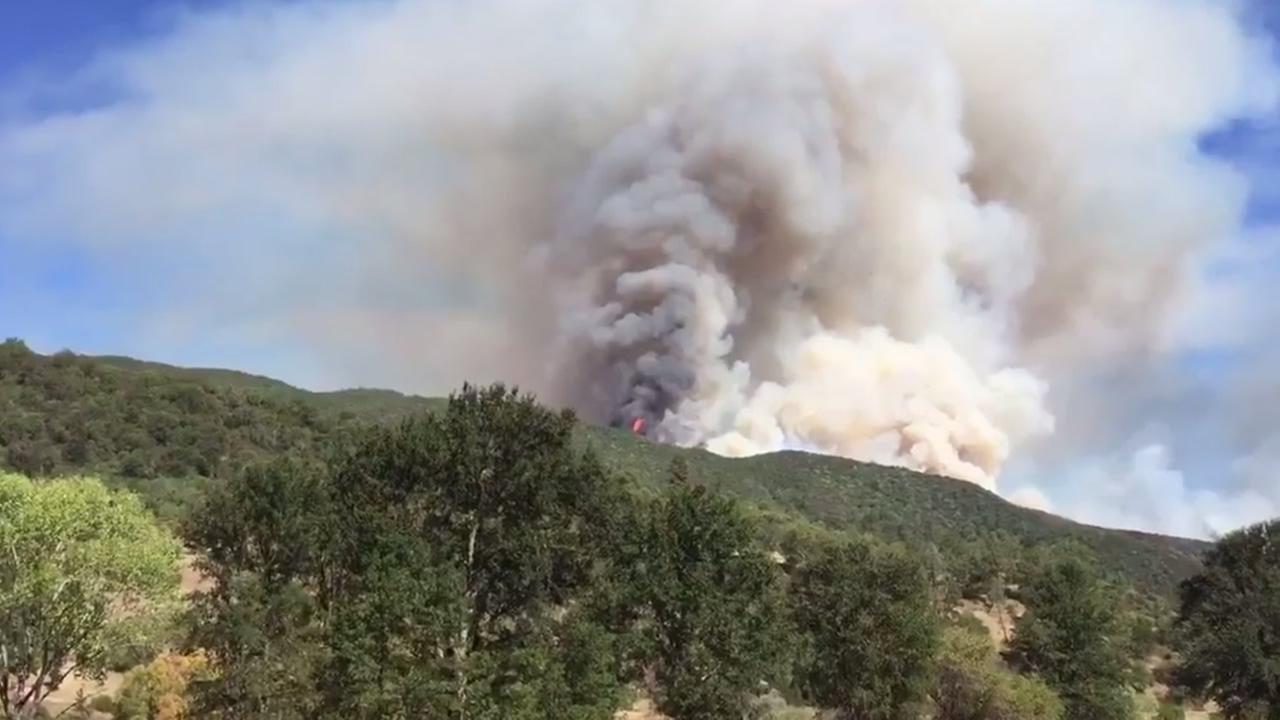 Cal Fire crews are battling a wildfire that started burning north of Upper Lake, Calif. on Wednesday, September 2, 2015.
