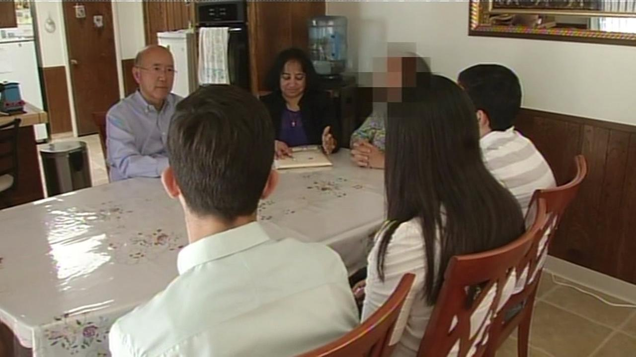 An Iraqi family that was granted asylum in the Bay Area spoke to ABC7 News reporter David Louie in Santa Clara, Calif. on Monday, September 7, 2015.