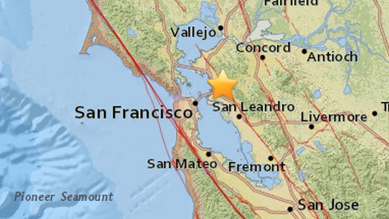 Earthquake in Berkeley, California, Thursday, September 10, 2015.