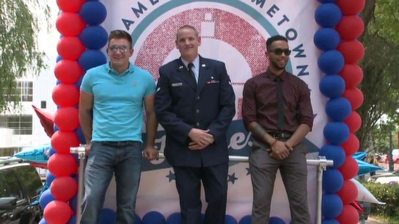 Sacramento honored the local men who stopped a gunman on a Paris bound train with a parade and rally on Friday, September 11, 2015.