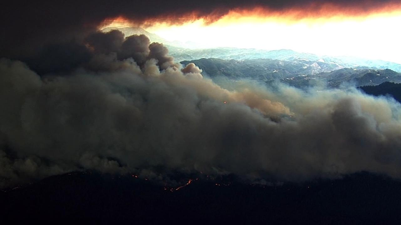The Valley Fire in Lake County, Calif., burned thousands of acres on Saturday, September, 12, 2015.