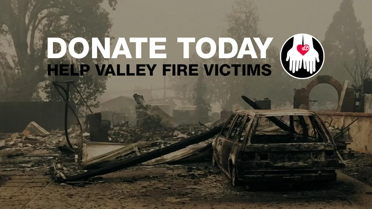 Valley Fire donation page