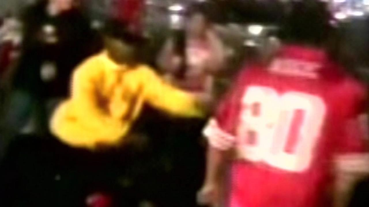 A video posted to social media shows the alleged attack of Vikings fan at Levis Stadium Monday, Sept. 15, 2015.