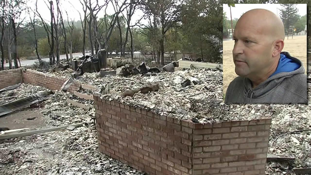 Cal Fire firefighter Dave Watkins home in Hidden Valley Lake, Calif. was destroyed by the Valley Fire.