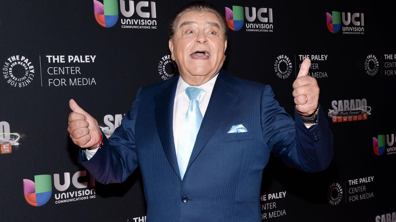 Television personality Mario Kreutzberger, aka Don Francisco, arrives at an event on Tuesday, Sept. 8, 2015, in New York. (Photo by Evan Agostini/Invision/AP)