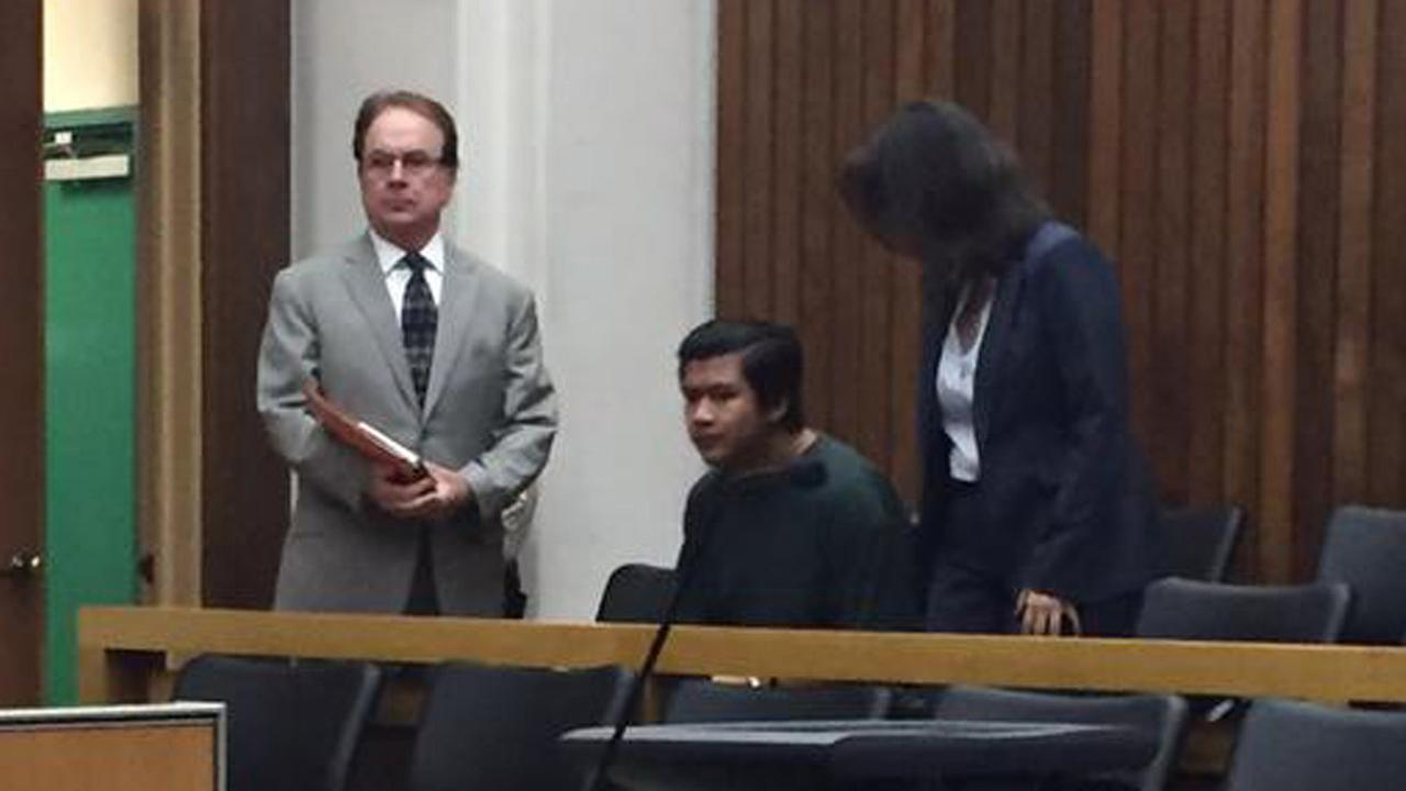 Adrian Gonzalez, 15, has entered a not guilty plea in the murder of 8-year-old Maddy Middleton of Santa Cruz. Monday, September 21, 2015.