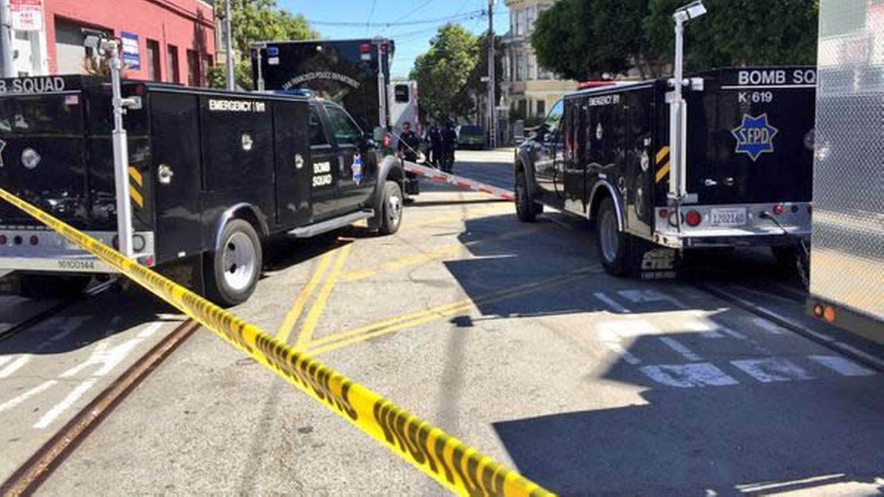 San Francisco police responded to a report of a suspicious device in the Castro District on Wednesday, September 23, 2015.