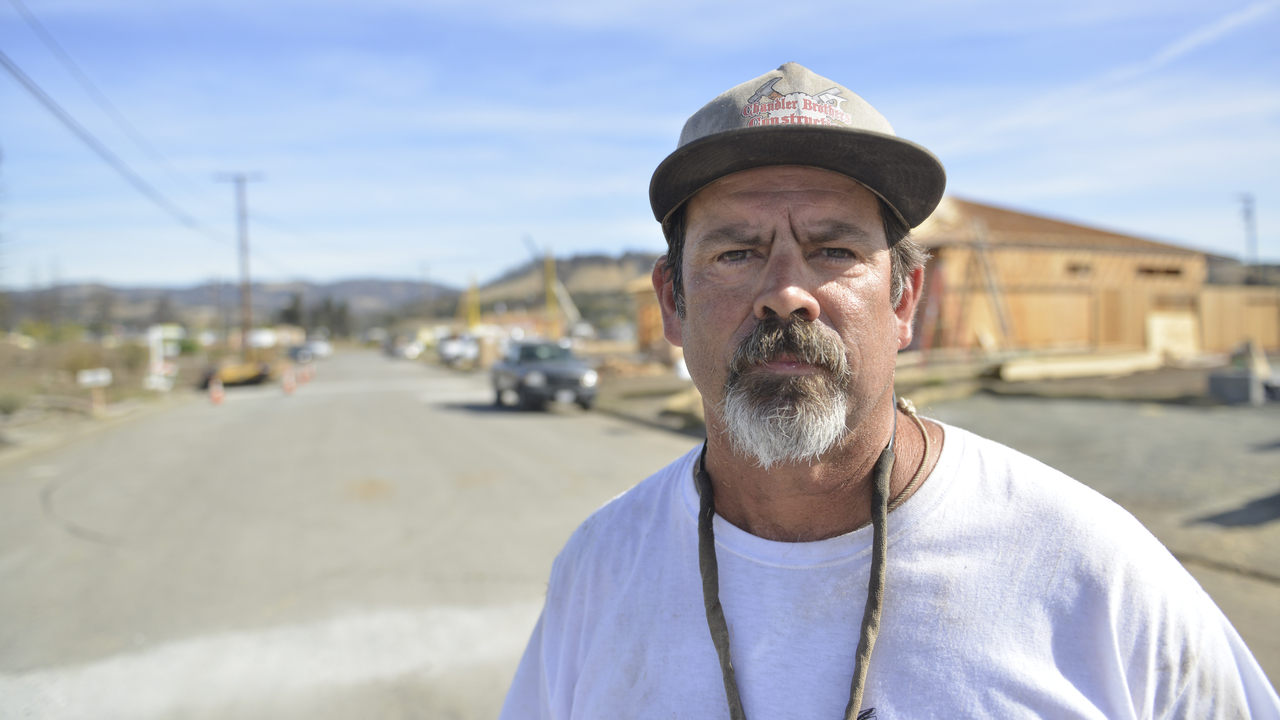 Larkfield Estates homeowner Joel Chandler in Santa Rosa, Calif., on Oct. 26, 2018.